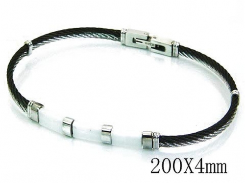 HY Stainless Steel 316L Bangle (Steel Wire)-HY64B1118IIW