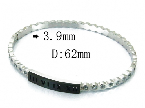 HY Wholesale Stainless Steel 316L Bangle(Crystal)-HY80B0972HWW