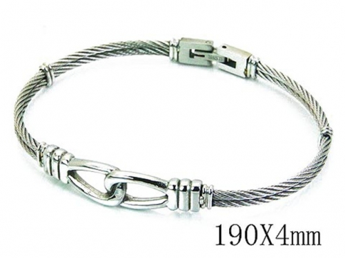 HY Stainless Steel 316L Bangle (Steel Wire)-HY64B1111HPW