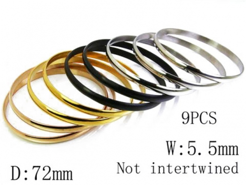 HY Stainless Steel 316L Bangle (Merger)-HY58B0123H50