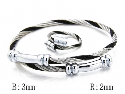HY Stainless Steel 316L Bangle (Steel Wire)-HY38S0098H70