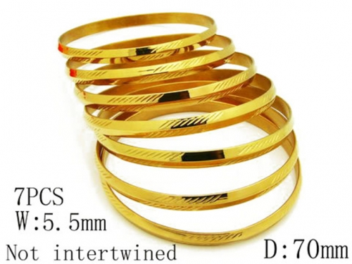 HY Stainless Steel 316L Bangle (Merger)-HY58B0004H60