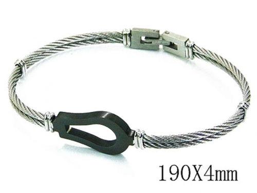 HY Stainless Steel 316L Bangle (Steel Wire)-HY64B1108HPQ