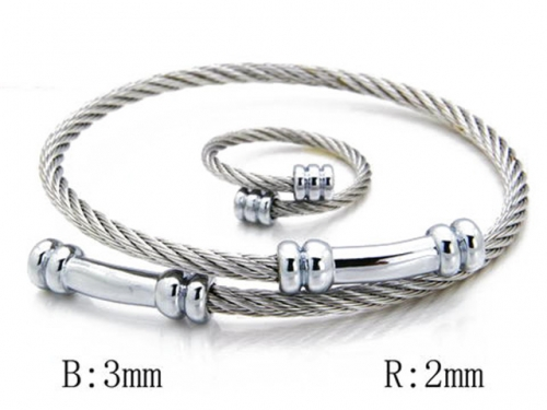 HY Stainless Steel 316L Bangle (Steel Wire)-HY38S0096H50