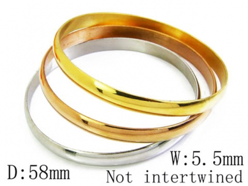 HY Stainless Steel 316L Bangle (Merger)-HY58B0119L0