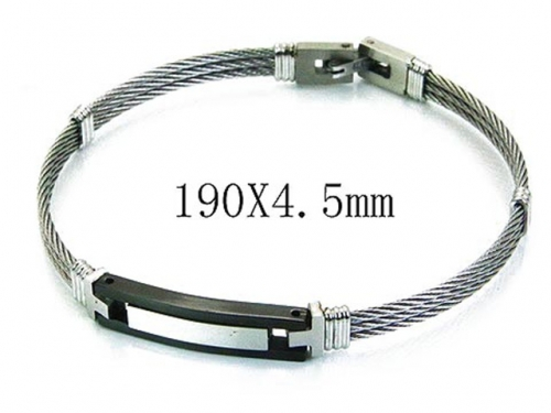 HY Stainless Steel 316L Bangle (Steel Wire)-HY64B1114IIA