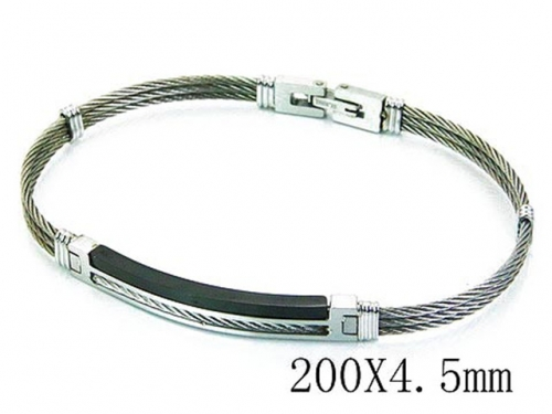 HY Stainless Steel 316L Bangle (Steel Wire)-HY64B1116IIU
