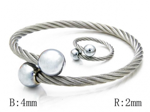 HY Stainless Steel 316L Bangle (Steel Wire)-HY38S0099H50