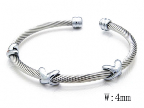 HY Stainless Steel 316L Bangle (Steel Wire)-HY38B0356H40