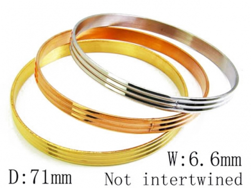 HY Stainless Steel 316L Bangle (Merger)-HY58B0115N0