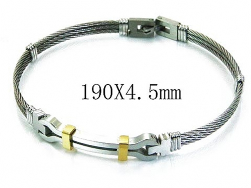 HY Stainless Steel 316L Bangle (Steel Wire)-HY64B1112IIY