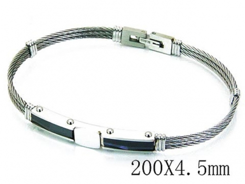 HY Stainless Steel 316L Bangle (Steel Wire)-HY64B1113IIQ