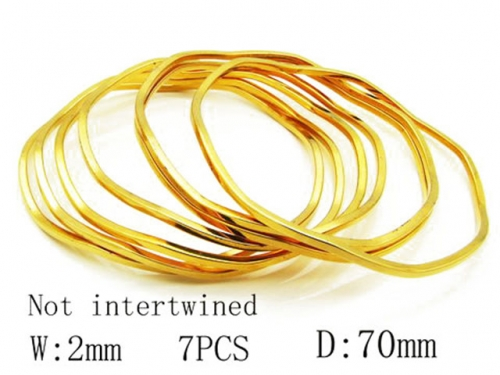HY Stainless Steel 316L Bangle (Merger)-HY58B0010H70