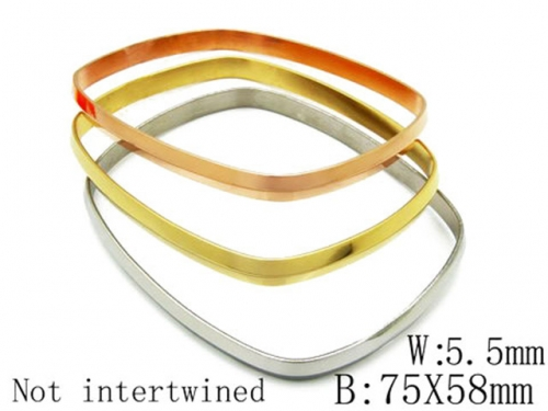 HY Stainless Steel 316L Bangle (Merger)-HY58B0005N5