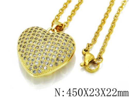 HY Wholesale 316L Stainless Steel Lover Necklace-HY35N0065HOZ