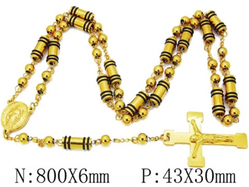 HY Wholesale Stainless Steel 316L Necklaces (Religion Style)-HY55N0111I50