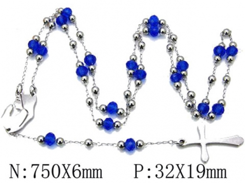 HY Wholesale Stainless Steel 316L Necklaces (Religion Style)-HY55N0133H30