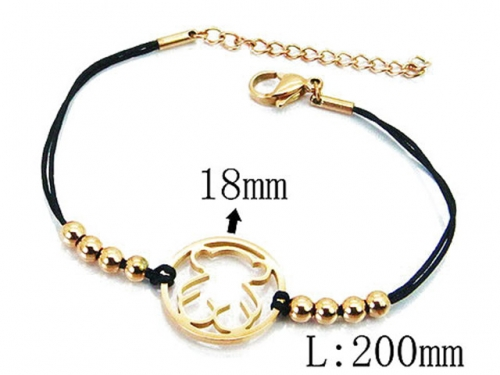 HY Wholesale Stainless Steel 316L Bracelets (Bear Style)-HY64B1321HJQ