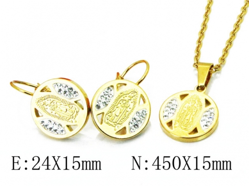 HY 316L Stainless Steel jewelry CZ Set-HY67S0103PZ