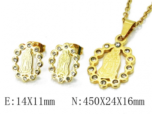 HY 316L Stainless Steel jewelry CZ Set-HY67S0100OA