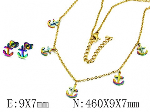 HY Wholesale 316 Stainless Steel jewelry Set-HY59S2916OLS