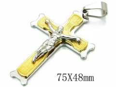 HY 316L Stainless Steel Cross Pendants-HY08P0744HHE