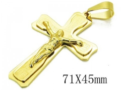 HY 316L Stainless Steel Cross Pendants-HY08P0701HHD