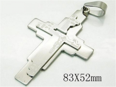 HY 316L Stainless Steel Cross Pendants-HY08P0688HHW