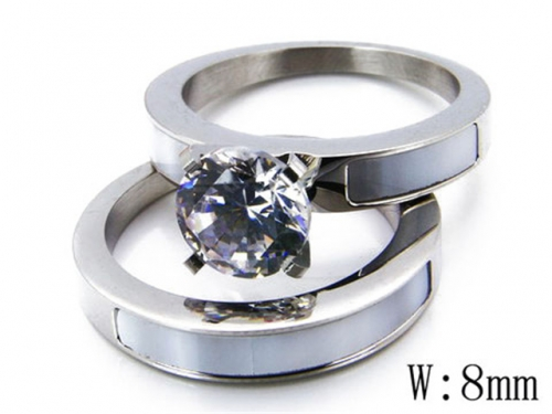 HY Stainless Steel 316L Lover Rings-HY05R0710I60