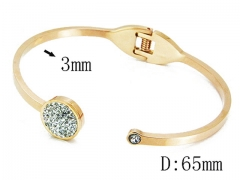 HY Wholesale Stainless Steel 316L Bangle(Crystal)-HY14B0130HMQ