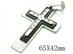 HY 316L Stainless Steel Cross Pendants-HY08P0676PT
