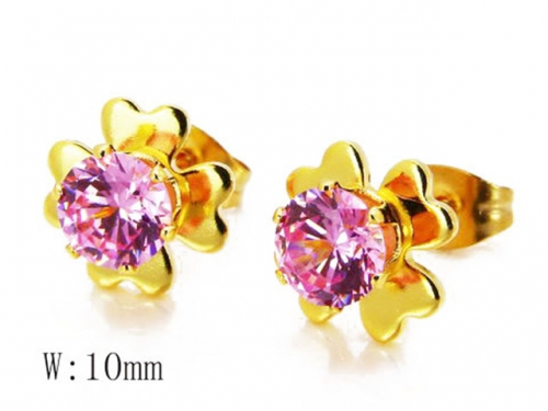 HY Stainless Steel Small Crystal Stud-HY14E0634K0