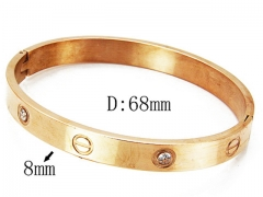 HY Wholesale Stainless Steel 316L Bangle(Crystal)-HY81B0117HPR