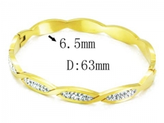 HY Wholesale Stainless Steel 316L Bangle(Crystal)-HY14B0123IWT