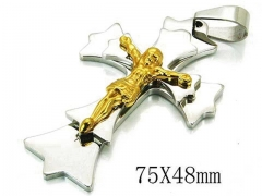 HY 316L Stainless Steel Cross Pendants-HY08P0714HID