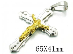 HY 316L Stainless Steel Cross Pendants-HY08P0734PS