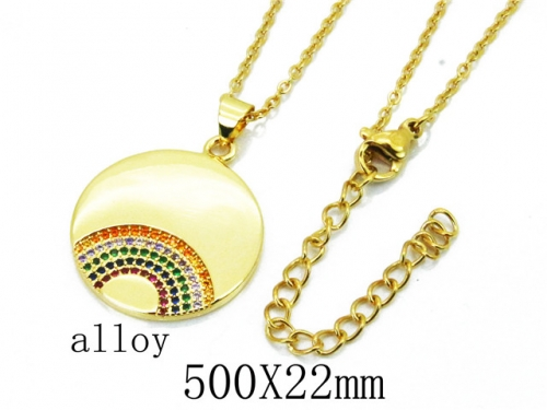 HY Wholesale Stainless Steel 316L Necklaces-HY0002N0022MC