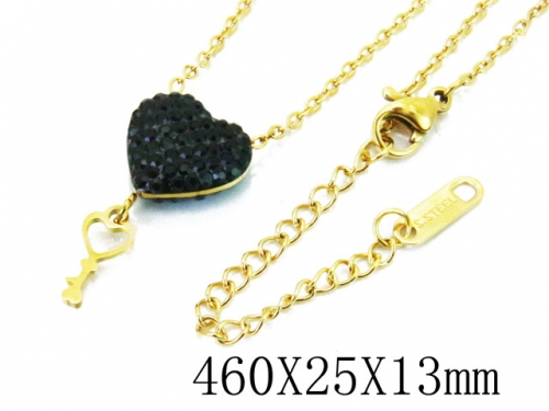 HY Wholesale Stainless Steel 316L Lover Necklaces-HY80N0274NL