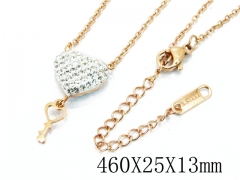 HY Wholesale Stainless Steel 316L Lover Necklaces-HY80N0278N5