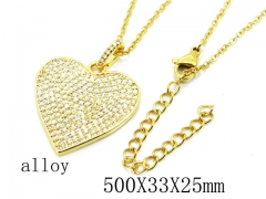 HY Wholesale Stainless Steel 316L Lover Necklaces-HY0004N0002HJC