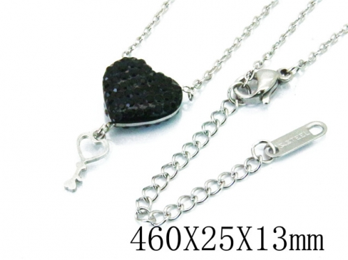 HY Wholesale Stainless Steel 316L Lover Necklaces-HY80N0273ME