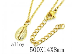 HY Wholesale Stainless Steel 316L Necklaces-HY0002N0027JD