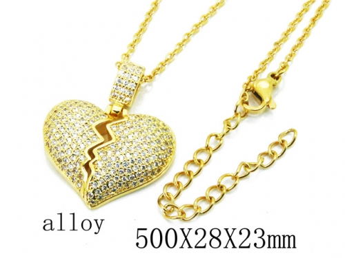 HY Wholesale Stainless Steel 316L Lover Necklaces-HY0004N0003HIC