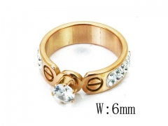 HY Wholesale 316L Stainless Steel CZ Rings-HY80R0153NQ