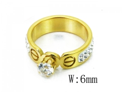 HY Wholesale 316L Stainless Steel CZ Rings-HY80R0152NW