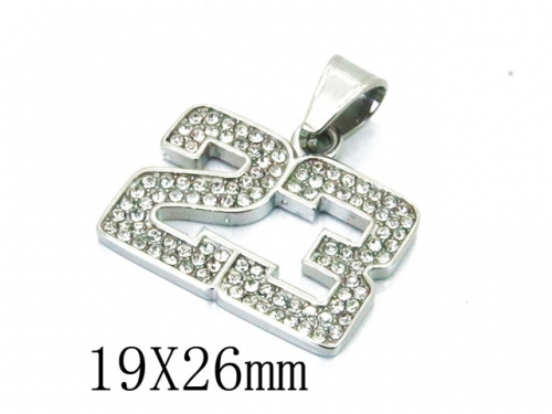 HY Wholesale Stainless Steel 316L CZ Pendant-HY13P0994HIE