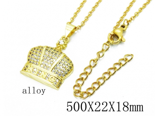 HY Wholesale Stainless Steel 316L Necklaces-HY0003N0006ND