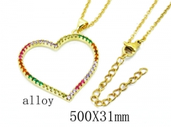 HY Wholesale Stainless Steel 316L Lover Necklaces-HY0002N0016MD