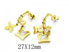 HY Wholesale 316L Stainless Steel Drops Earrings-HY32E0031P5