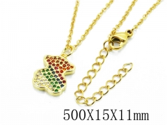 HY Wholesale Stainless Steel 316L Necklaces-HY0005N001KD